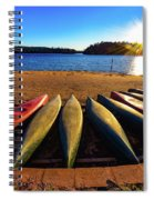 Canoes At Sunset Spiral Notebook