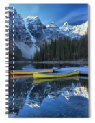 Canoes Under The Peaks Spiral Notebook