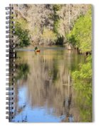 Canoing On Hillsborough River Spiral Notebook