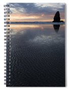 Canon Beach At Sunset 6 Spiral Notebook
