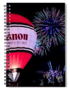 Canon - See Impossible - Hot Air Balloon With Fireworks Spiral Notebook