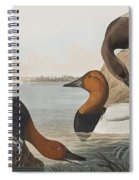 Canvas Backed Duck Spiral Notebook
