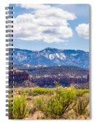 Canyon Badlands And Colorado Rockies Lanadscape Spiral Notebook