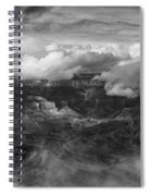Canyon In Clouds Bw Spiral Notebook
