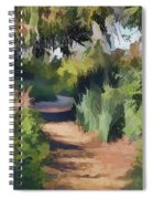 Canyon Path II Painterly Spiral Notebook