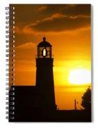 Cape Blanco Lighthouse Sunset 2 Spiral Notebook