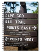 Cape Cod Rail Trail Sign Eastham Spiral Notebook