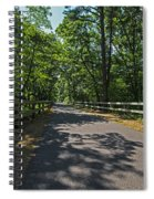 Cape Cod Rail Trail Trees Eastham Ma Fence Spiral Notebook