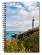 Cape Elizabeth Maine - Portland Head Lighthouse Spiral Notebook