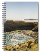 Cape Grim Cliff Panoramic Spiral Notebook