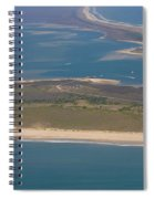Cape Lookout Lighthouse Distance Spiral Notebook