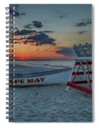 Cape May At Sunrise - Cape May New Jersey Spiral Notebook