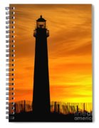 Cape May Light Sunset Spiral Notebook