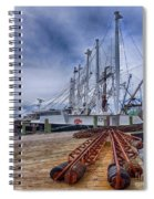 Cape May Scallop Fishing Boat Spiral Notebook