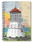 Cape Mendocino Lighthouse Ca Nautical Chart Map Spiral Notebook