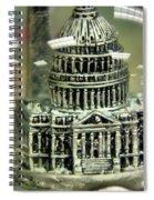 Capital Snow Globe  Spiral Notebook