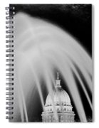 Capital Stained Spiral Notebook