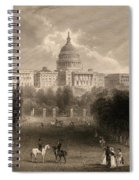 Capitol Of The Unites States, Washington D C Spiral Notebook