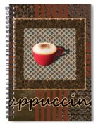 Cappuccino - Coffee Art - Red Spiral Notebook