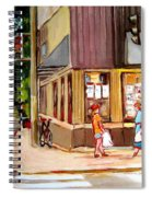 Cappucino  Cafe At Beauty's Restaurant Spiral Notebook