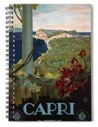 Capri, Italia - Bay Of Naples, Italy - Retro Travel Poster - Vintage Poster Spiral Notebook