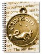 Capricorn Zodiac Lucky Charm Spiral Notebook