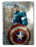 Captain America With Helmet Spiral Notebook
