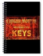 Captain Morgan Welcome Florida Keys Spiral Notebook