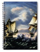 Capture Of H.b.m. Frigate Macedonian By U.s. Frigate United States, October 25, 1812  Spiral Notebook