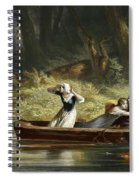 Capture Of The Daughters Of Daniel Boone And Richard Callaway By The Indians Spiral Notebook