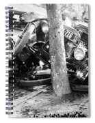 Car Accident, C1919 Spiral Notebook