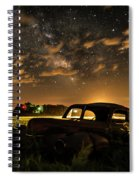 Car And The Milky Way Spiral Notebook