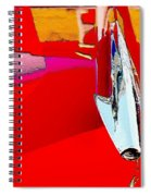 Car Hood Reflection Bump Map Spiral Notebook