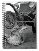 Car Lifter Spiral Notebook