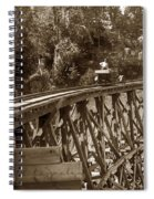 Car On A Wooden Railroad Trestle Circa 1916 Spiral Notebook