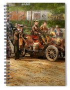 Car - Race - The End Of A Long Journey 1906 Spiral Notebook