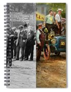 Car - Race - The End Of A Long Journey 1906 - Side By Side Spiral Notebook