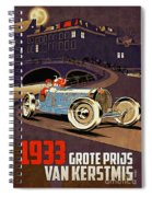 Car Racing Christmas Poster Of The 30s Spiral Notebook