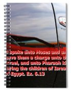 Car Reflection With Text 4 Spiral Notebook