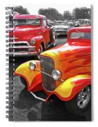 Car Show Fever - 54 Chevy With A 32 Ford Coupe Hot Rod Spiral Notebook