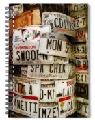 Car Tags Spiral Notebook