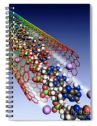 Carbon Nanotube, Ions And Dna Spiral Notebook