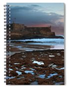 Fort In Carcavelos Beach Spiral Notebook