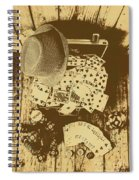 Card Games And Vintage Bets Spiral Notebook