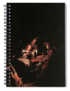 Card Players At Candlelight Spiral Notebook