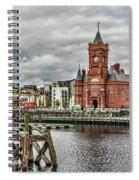Cardiff Bay Skyline Spiral Notebook