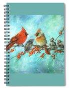 Cardinal Family Three Kids Spiral Notebook