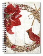 Cardinal Holiday II Spiral Notebook