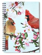 Cardinals And Apple Blossoms Spiral Notebook