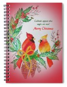 Cardinals Painted By Pat Napper  Spiral Notebook